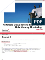All oracle dba shave to know about unix memory monitoring