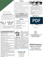 Folder - Seminário Sobre Insônia