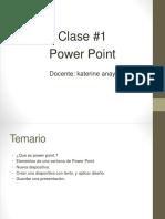 Clase de power point