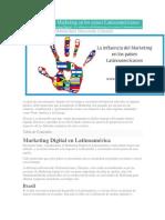 La Influencia Del Marketing en Los Países Latinoamericanos