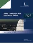 AAMC Legislative and Regulatory Update November 2010