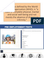 Preemployment Test
