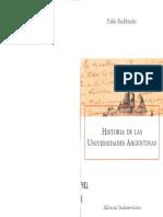 BUCHBINDER Historia de Las Universidades Argentinas