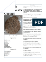 4-19-19 monster cookie recipe card gregory rambo