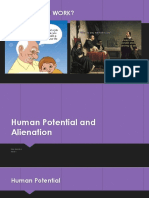 Human Potential and Alientation