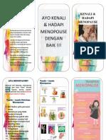 Pamflet Menopause