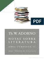Theodor Adorno_Notas sobre literatura