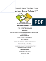 informe de practica computacion e informatica