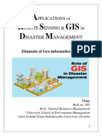 Applications of RS & GIS in Disaster Management