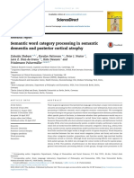 Semantic Word Category Processing in Semantic Dementia and Posterior Cortical Atrophy
