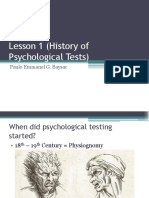 Psychological Testing Lesson 1