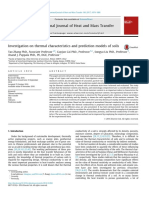 Investigation on Thermal Characteristics and Prediction Models of Soils