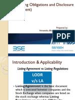 SEBI(Listing Obligations and Disclosure Requirement)