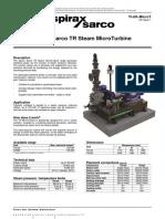 Spirax Sarco TR Steam MicroTurbine-Technical Information