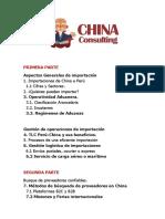 Importar de china temario