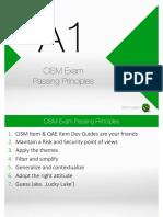 CISM Exam Passing Principles