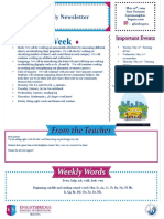 weekly newsletter may 20th 2019