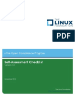 Linux Foundation Self-Assessment Checklist