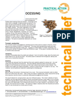 Turmeric processing