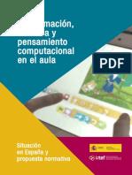 Ponencia Sobre Pensamiento Computacional. Informe Final