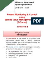 Lesson 08 EVM, S-Curve(Fall 2018)