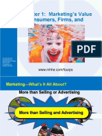 Chapter 1  Marketing's Value to Consumers, Firms, and Society