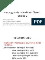 Patologías de La Audición Clase 1