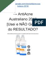 → AntiAcne Creme Natural 2019 [Usei e NÃO Gostei do RESULTADO?]
