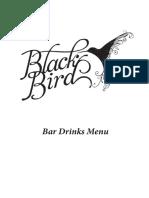 2017 Bar Menu