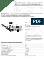 Máquina fresadora de pavimentos,Maquinaria para mantenimiento vial,Recicladora en frío.pdf