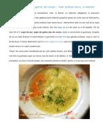 Supa de Pasare Cu Taitei