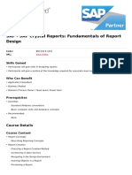 Sap Crystal Reports Fundamentals of Report Design