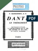 Dante, le théologien - P. Mandonnet O.P.