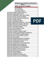 Básica Listado de Becas 2018-19 de Hijos de Trabajadores Que Estudian en Educación Básico