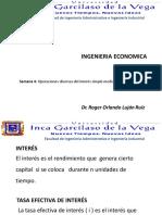 4- CURSO de INGENIERIA ECONOMICA- Semana 4 Operaciones Diversas Del Interés Simple