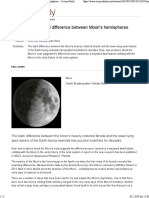 Giant Impact Caused Difference Between Moon's Hemispheres -- ScienceDaily