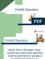 Fork Lift Training