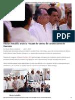 09-04-2019 Héctor Astudillo anuncia rescate del centro de convenciones de Guerrero.