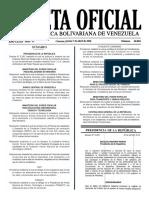 Gaceta Oficial Nº 40.881 CONVENIO CAMBIARIO N°36. VENEZUELA