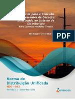NDU 013- CRITÉRIOS PARA CONEXÃO DE ACESSANTES DE GERAÇÃO DISTRIBUÍDA -CONEXÃO EM BAIXA TENSÃO V3.3.pdf