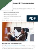 4 Opciones Para Tu Plan 401(K) Cuando Cambias de Empleo _ Allstate