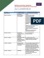 Programa de La Conferencia Nacional Sindical Departamento de Defensa Laboral