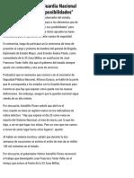 """16-04-2019 Guerrero apoyará la Guardia Nacional en """"la medida de sus posibilidades""""."""
