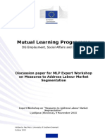 Discussion Paper for MLP Expert Workshop on Measures to Address Labour Market Segmentation