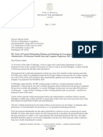 Michigan governor's overtime rule letter