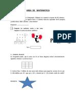 Evaluacion Matematica Quinto 2019