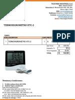 Cotización Termohigrometro Htc-2