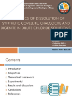 The Kinetics of Dissolution of Synthetic Covellite,