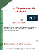 FT - Sistema Internacional de Unidades