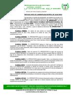 Contrato de Arrendamiento Del Hotel de La Municipalidad Distrital de Jacas Chico